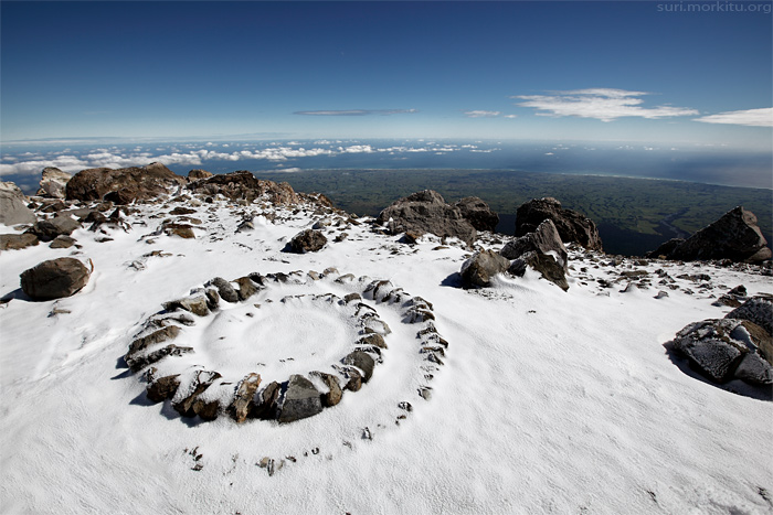 Mount Egmont / Mount Taranaki summit, NZ